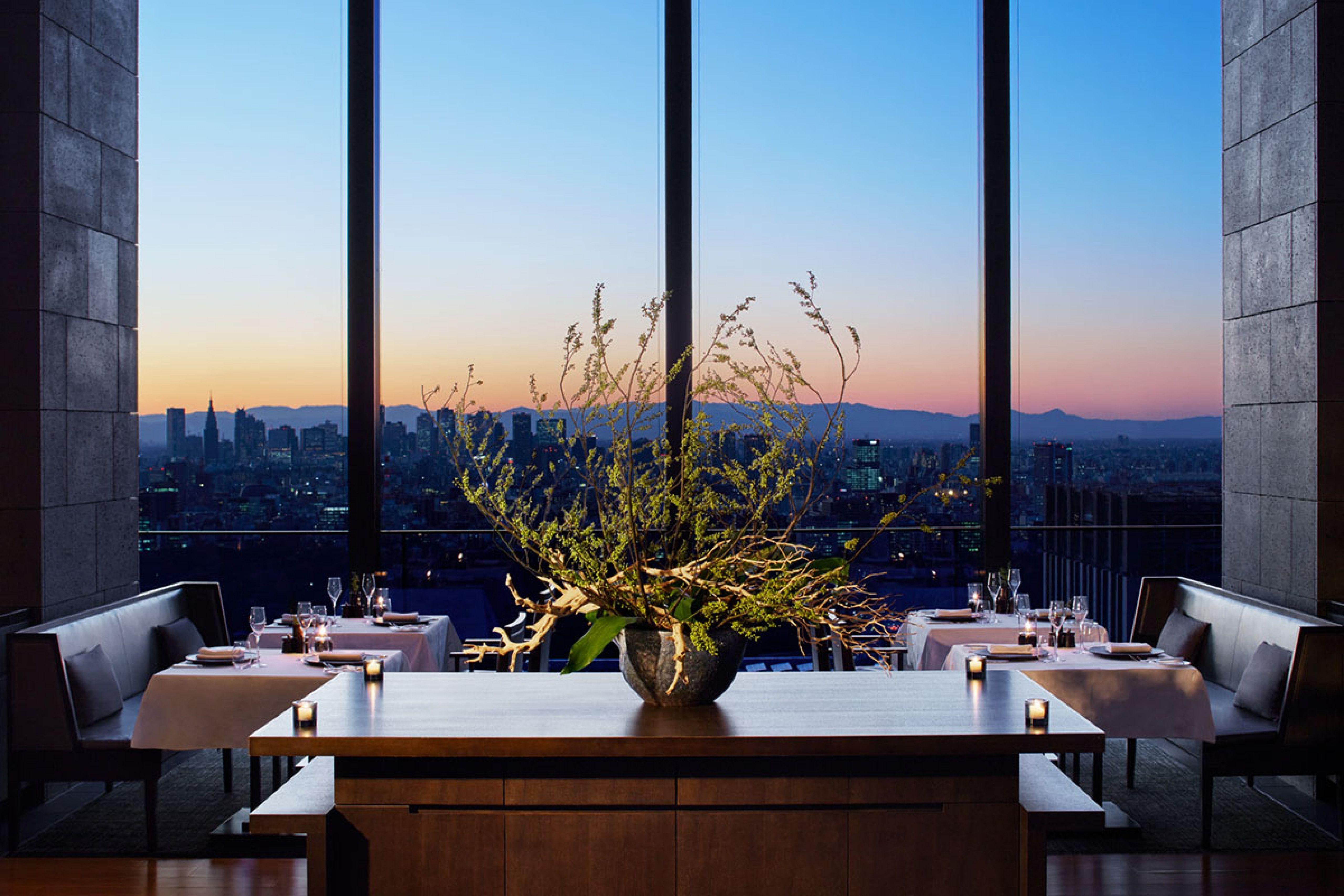 Tokyo Best Hotel Beautiful the Restaurant at Aman tokyo